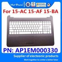 new original upper case base cover palmrest For HP 15-AC 15-AF 15-BA  250 255 256 G5 G4 Gray stripe UK C shell  AP1EM000330