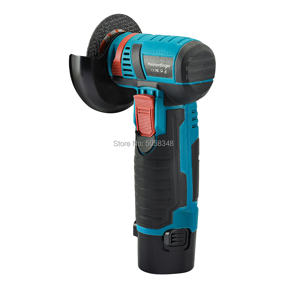 Tools : Mini 12 Volt  brushless cordless angle grinder mini cutter with two batteries