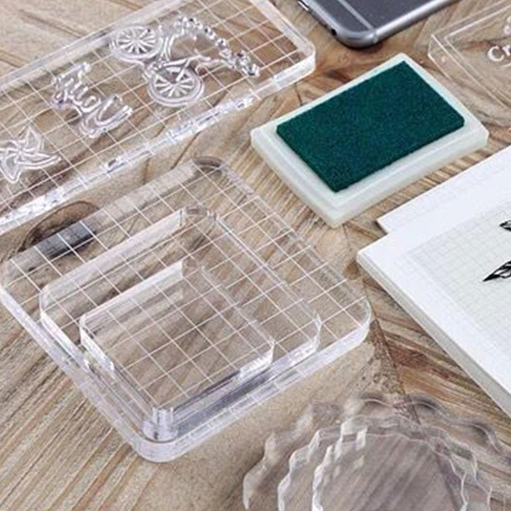 NEW Transparency Acrylic Block For DIY Transparent Block Scrapbooking Stamp For DIY Album Photo Clear Decorative Seal S8Q8