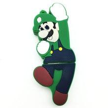2.0 USB Flash Drive Pen Drive 128GB 64GB 32GB 16GB 8GB 4GB Flash Memory Real Capacity Pendrive Stick Pen Drive Cute Super Mario цена и фото