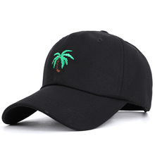 European and American ins Style Street Retro Soft Top Curved Corner Baseball Cap, Coconut Tree Cap for Men Women