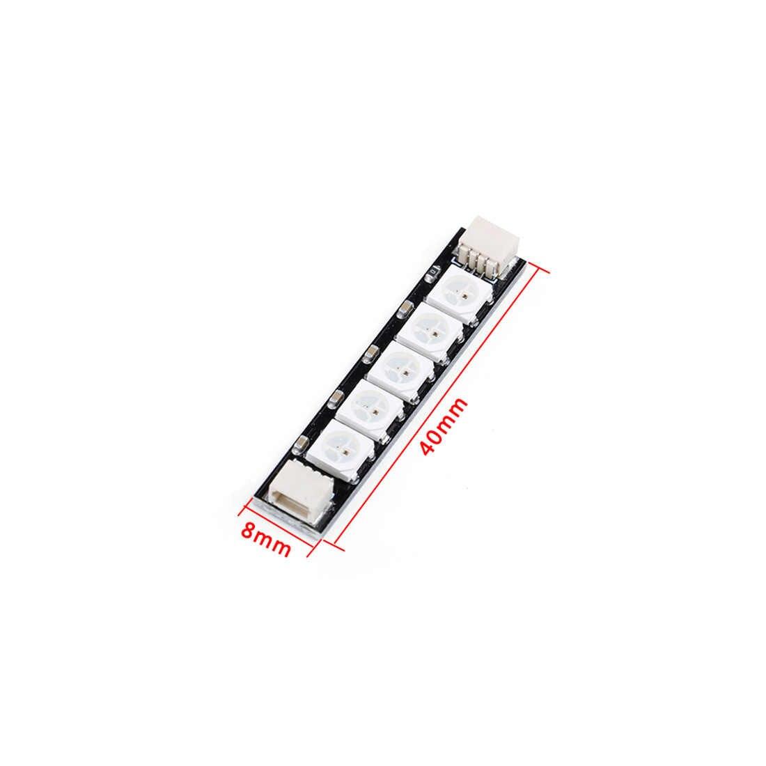 4 Pcs Iflight Programmable RGB 5 Lampu LED 5V Super Lampu LED Ekor Lampu Papan PCB 3 Pin Plug untuk RC FPV Racing Drone