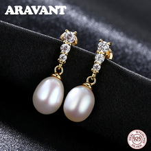 White Pearl Stud Earrings For Women 925 Sterling Silver Pave Cubic Zirconia Earring Fashion Jewelry beautiful hoop oval earrings pave grey pearl and aaa cubic zirconia crystal high quality fashion jewelry for women
