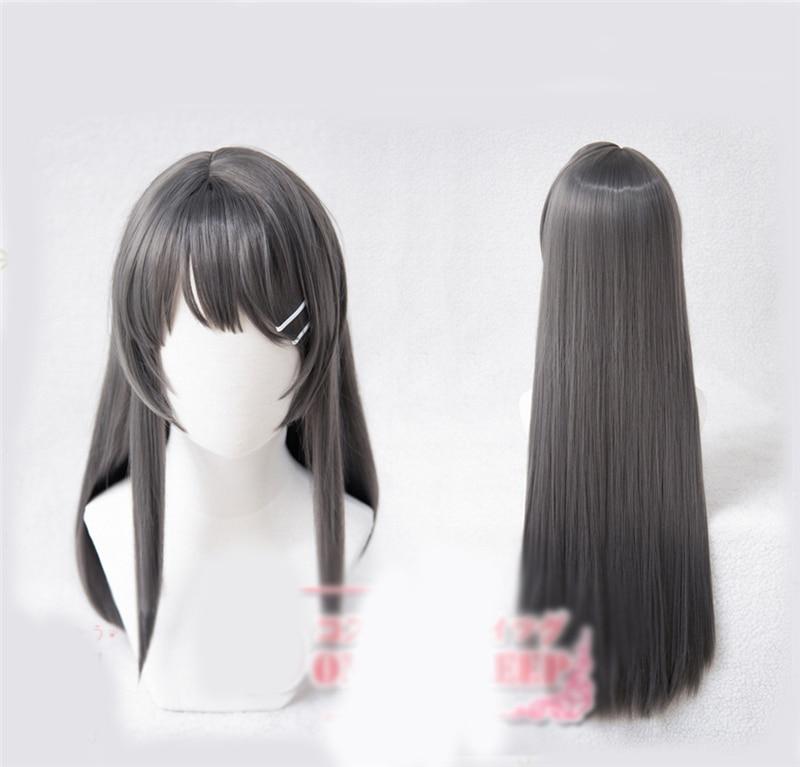 Anime Seishun Buta Yarou Series Sakurajima Mai Cosplay Girl Party Hair Wig Prop