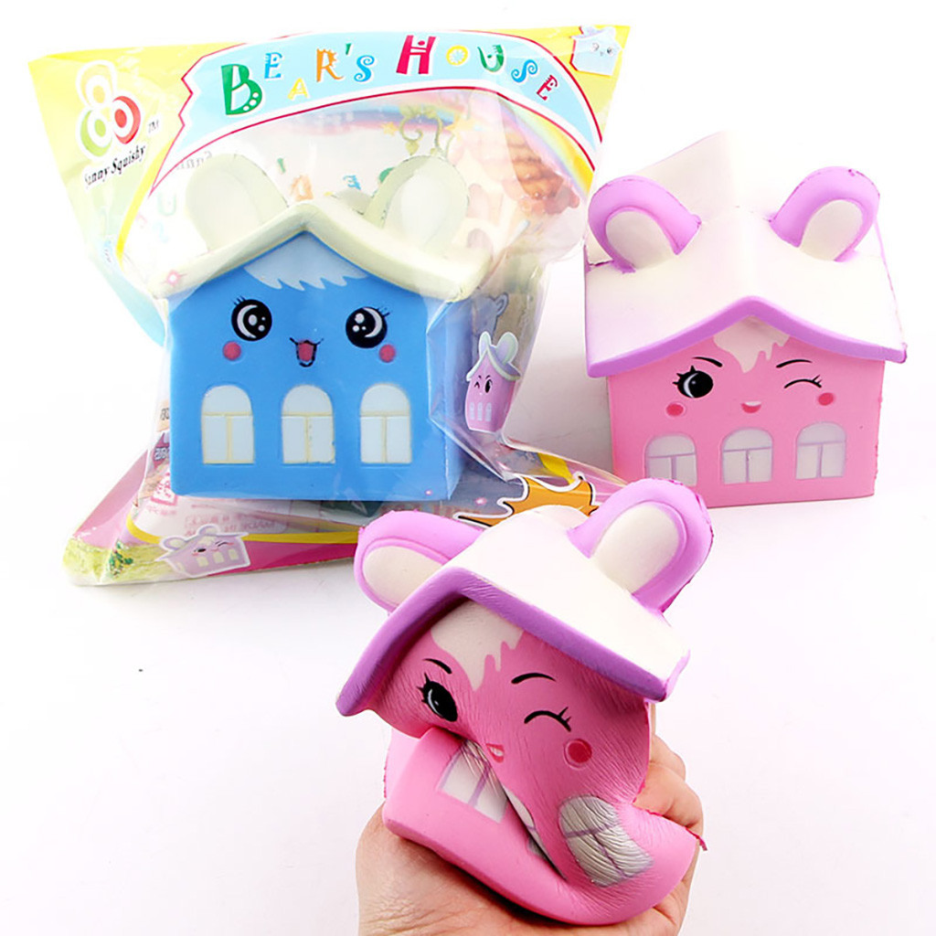 Cute Cartoon Squeeze Toy New Bear House Cartoon Slow Rebound Squeeze Decompression Children's Toys L103