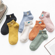 Spring and summer new embroidery weather women's boat socks Cotton ladies casual personality socks 10pair/lot 10pair lot socks solid color women s socks cotton socks spring and summer classic color women s socks