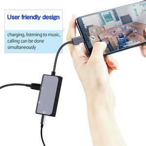 Image 3 - Lefon 3 en 1 USB tipo C a 3,5mm adaptador de conector de auriculares convertidor + puerto de carga PD DAC tecnología para Xiaomi Huawei HTC Google