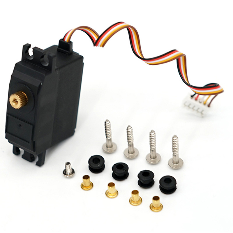 For WLtoys 12428 12423 25G Electric Servo Motor Upgraded Metal Steering Gear Servo RC Car Truck Vehicle Parts Accessory