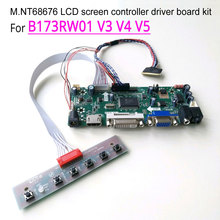 """Dla B173RW01 V3 V4 V5 HDMI + VGA + DVI panel LCD do laptopa M.NT68676 kontroler ekranu płyta napędowa WLED LVDS 40Pin 17.3 """"1600*900 zestaw"""