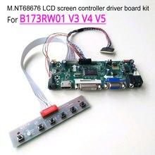 """Için B173RW01 V3 V4 V5 HDMI + VGA + DVI dizüstü bilgisayar LCD paneli M.NT68676 ekran denetleyici sürücü kartı WLED LVDS 40Pin 17.3 """"1600*900 kiti"""