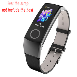 Image 3 - Band Voor Huawei Honor Band 5 Band Smart Polsband Voor Honor Band 4 Riem Echt Leer Voor Band 5 Armband smart Accessoires