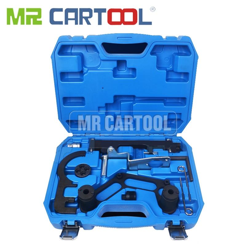 MR CARTOOL Double Camshaft And Crank Balancer Locking Timing Tool Set For BMW 1-7 Series X1 X3 X5 X6 Diesel Engine N47 N47S N57
