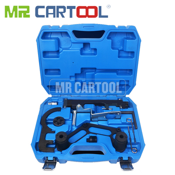 MR CARTOOL Double Camshaft And Crank Balancer Locking Timing Tool Set For BMW 1-7 Series X1 X3 X5 X6 Diesel Engine N47 N47S N57 engine timing tool kit for bmw n47 n47s n57 crank balancer shaft chain driven timing tool all diesel engines