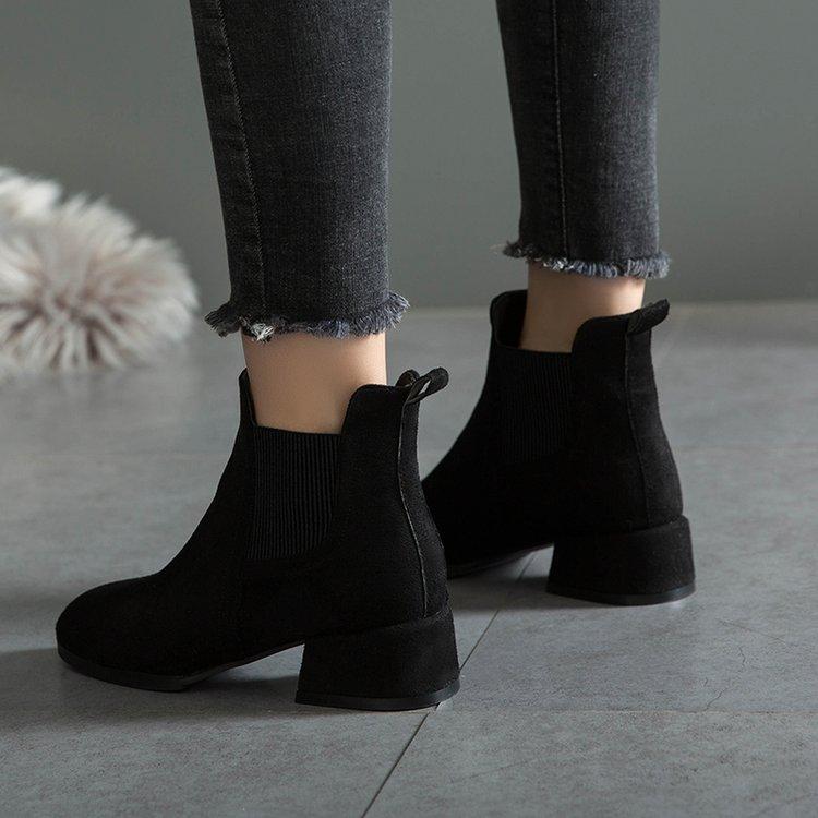 Dropshipping Winter Women <font><b>Boots</b></font> Heel on Shoes Feminina