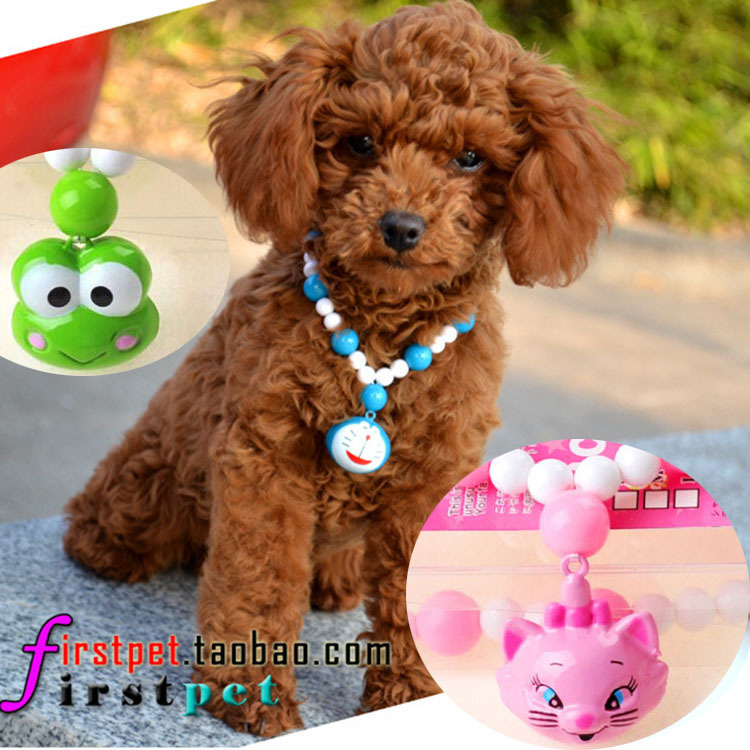 Nice Pet Brand Candy Beads Necklace Bell Necklace Dog Cat Teddy Accessories