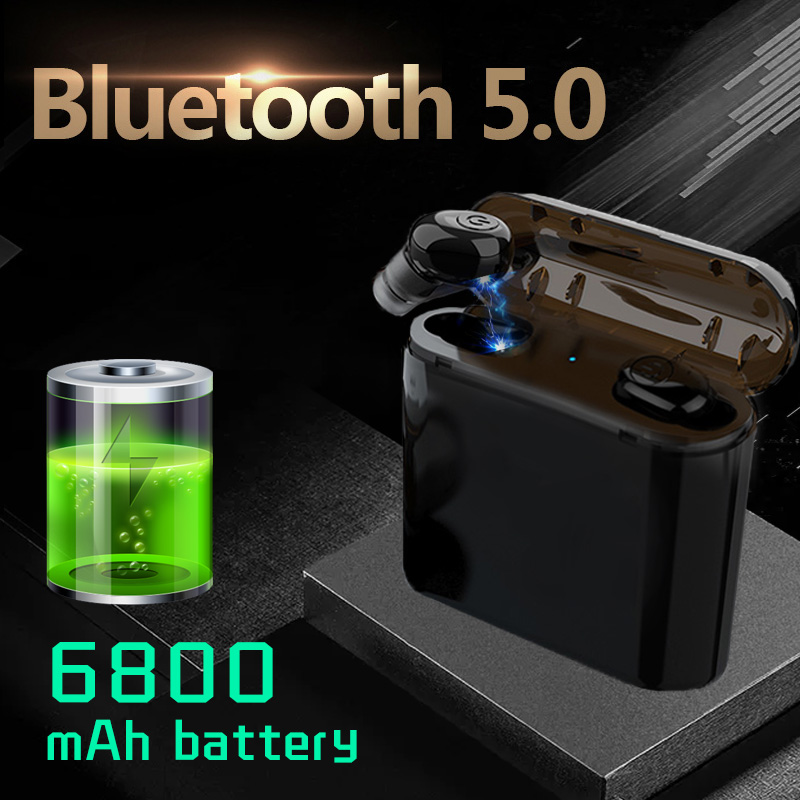 Newest TWS Wireless Earphones Headphones Bluetooth 5.0 Earbuds As Power Bank Sport Headset Noise Cancel Earphone Headphone