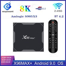 X96 Max Plus Smart Tv Box Android 9.0 Tvbox Amlogic S905X3 4 Gb 32 Gb 64 Gb 8K 1080P Hd Media Player Dual Wifi X96Max Set Top Box