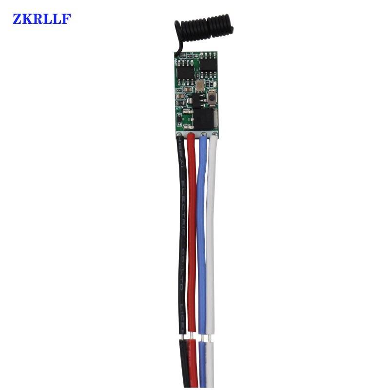 433mhz DC 3.6V 6V 12V 24V 1CH Mini Relay Wireless RF Remote Control Switch
