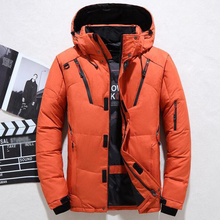 New Winter Jacket Men Casual White Duck Down Warm Hooded Coats Mens Outwear Windbreaker Thicken Parkas 4XL abrigo hombre casaco cheap TOLOER CN(Origin) Regular White Duck Down Parkas England Style zipper Full Pockets Zippers Thick (Winter) Broadcloth Cotton