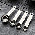 Кухонные мерные ложки из нержавеющей стали со шкалой для измерения сухих и жидких ингредиентов ложка кухонный гаджет Pro