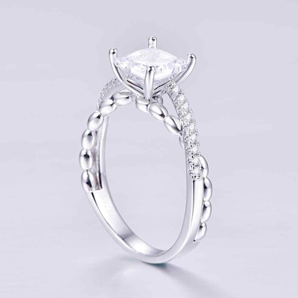 JC נסיכת לחתוך טופז מיסטיק קשת 925 גודל טבעת הכסף 6 7 8 9 נשים חתונה כלה תכשיטי מתנה