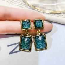 fashion  geometric drop earrings luxury shining square rhinestone earring for women party jewelry gift цена и фото