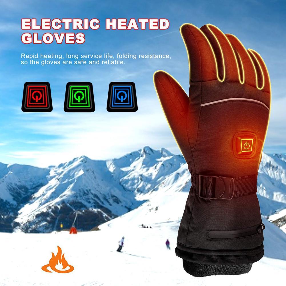 Перчатки с электрическим подогревом, перчатки с электрическим подогревом для лыжного спорта, перчатки с электрическим подогревом, перчатк...