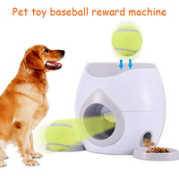 Pet Dog Toy Interactive Fetch Ball Tennis Launcher Dog Pet Toys Throwing Mmachine Pet Ball Throw Device Emission With Ball A26
