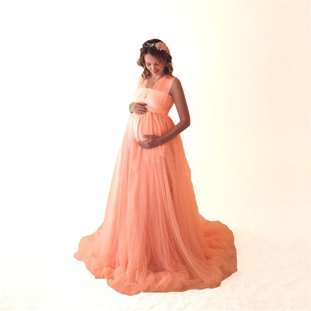 Tulle Sexy Maternity Dresses Photography Props Long Fancy Pregnancy Dress Mesh Pregnant Women Maxi Gown Clothes For Photo Shoots (14)