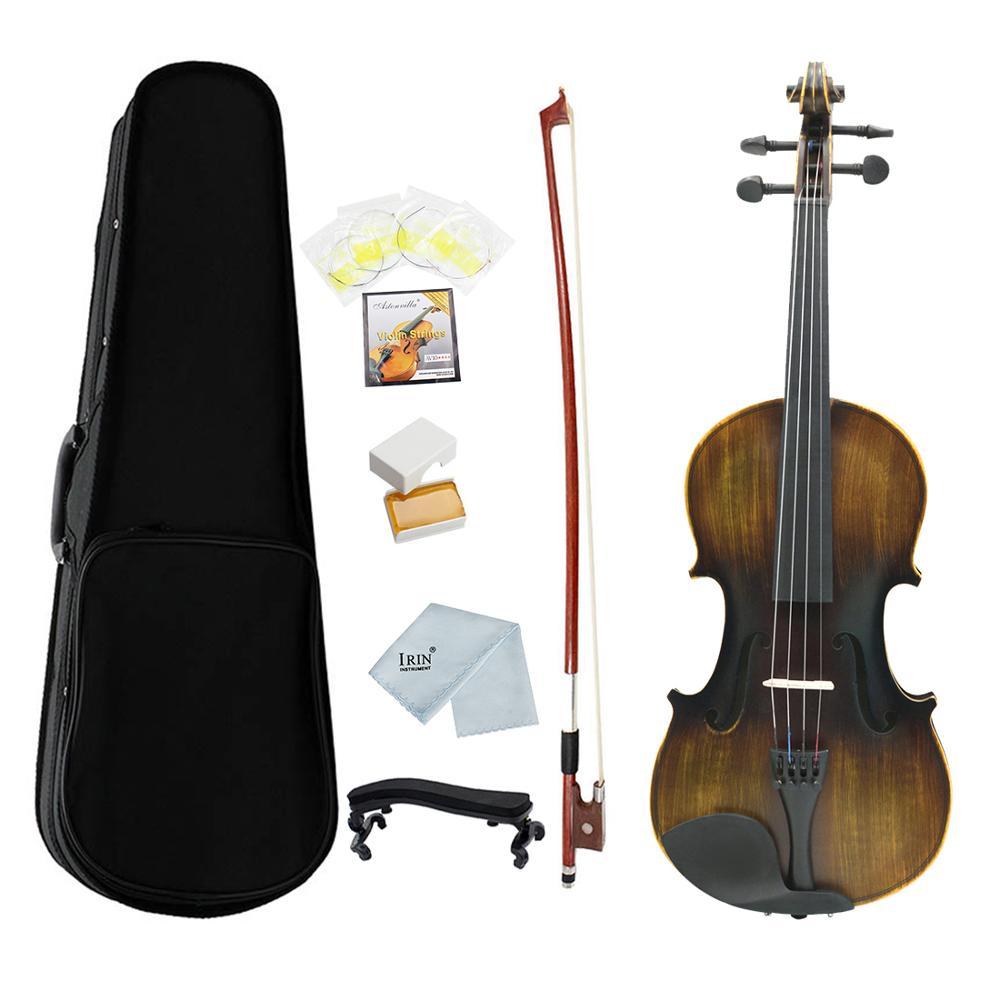 IRIN AV206-7 Violin 4/4 Full Size 8Pcs/Set Fiddle Kit Antique Face Color 4-String Instrument With Case Vilolin Kit