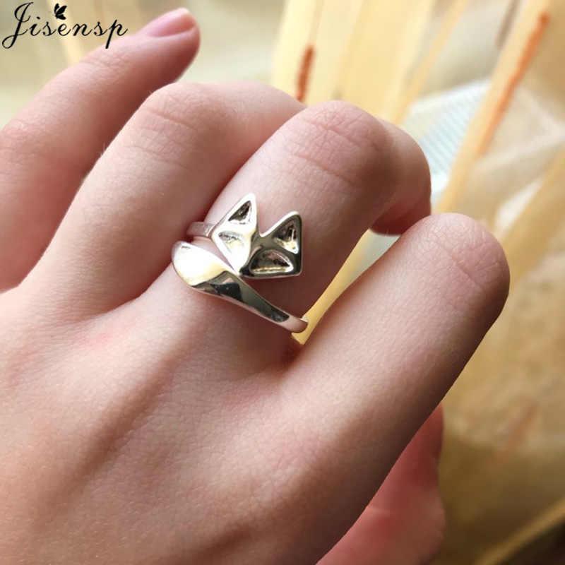 Jisensp de oro Simple, anillo anillos de boda para la joyería de las mujeres accesorios Anel círculo de karma nudillo Midi anillo Bijoux