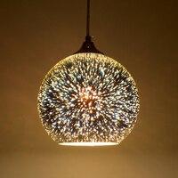현대 led 3d 유리 공 펜 던 트 조명  dia 15 20cm 다채로운 도금 유리 전등 갓 droplight 레스토랑 카페 바 조명|glass ball pendant light|ball pendant lightpendant lights -