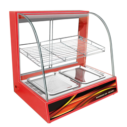 Cake Warming Display showcase Display Heated Cabinet 1 layer Shelf Curved Glass