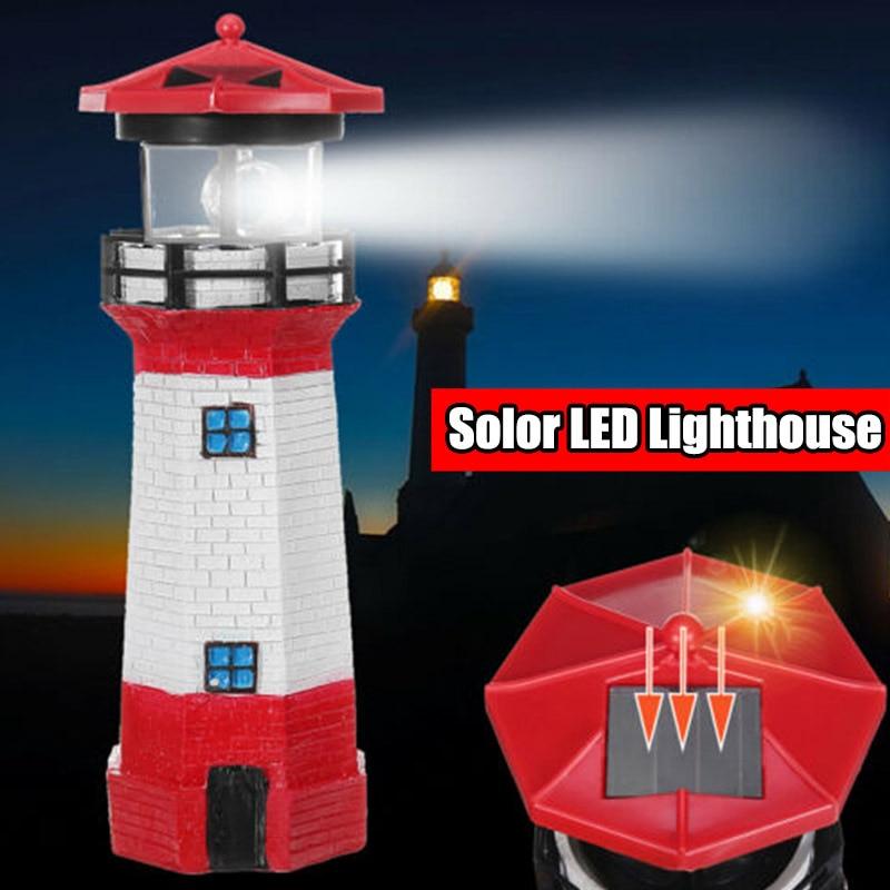 Led Solar Ed Lighthouse Waterproof