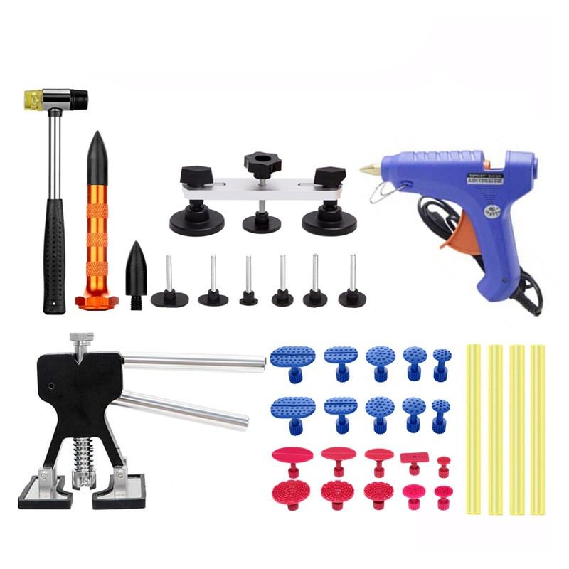 PDR Tool Kit Dent Removal Paintless Dent Repair Tools Straightening Dents Dent Puller Glue Gun Ferramentas