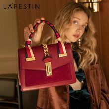LA FESTIN 2020 new fashion women's bag leather handbag Temperament Large Capacity Shoulder Messenger Bag High-quality brand