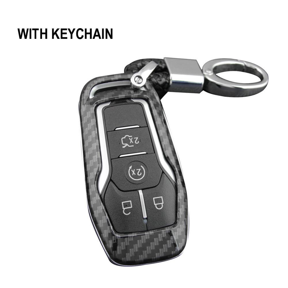 Key Case Fob Bag Holder ABS Hard Shell Cover Parts Key Cover Case Auto Accessories For Ford Mondeo Mustang Edge Explorer F150