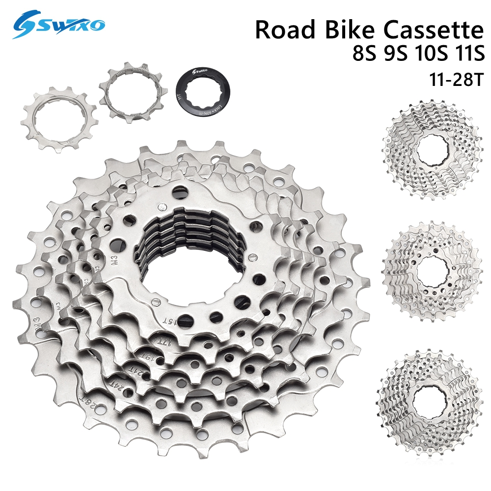 Кассета SWTXO для шоссейного велосипеда, 8S 9S 10S 11S Speed Velocidade 11-28T, свободное колесо, запчасти для велосипеда, Звездочка для SHIMANO SRAM