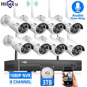 Nvr-Kit Camera HDD Cctv-System Surveillance-Hiseeu Ip-Wifi Night-Vision Outdoor 1080P