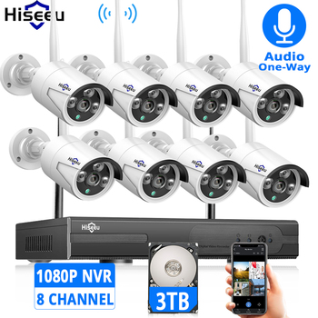 2MP 1080P CCTV System 8ch HD Wireless NVR kit 3TB HDD Outdoor IR Night Vision IP Wifi Camera Security System Surveillance Hiseeu 720p 1080p wireless surveillance security system 8ch cctv nvr kit outdoor ir night vision camera eu plug uk plug us plug au plug