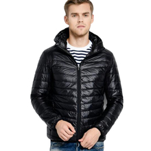 Men Hooded ultraLight White Duck Down Jacket Warm Line Portable Package Pack doudoune homme