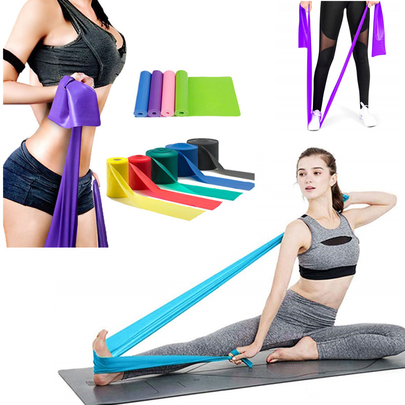 Gym Fitness Equipment Strength Training 1500x150mm TPE Resistance Bands Workout Crossfit Yoga Rubber Loops Sport Pilates Trainer