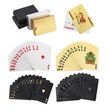 Zacro ouro cartões de jogo cartões de poker plástico folha baralho poker cartão mágico à prova dwaterproof água presente coleção jogo de tabuleiro de jogo