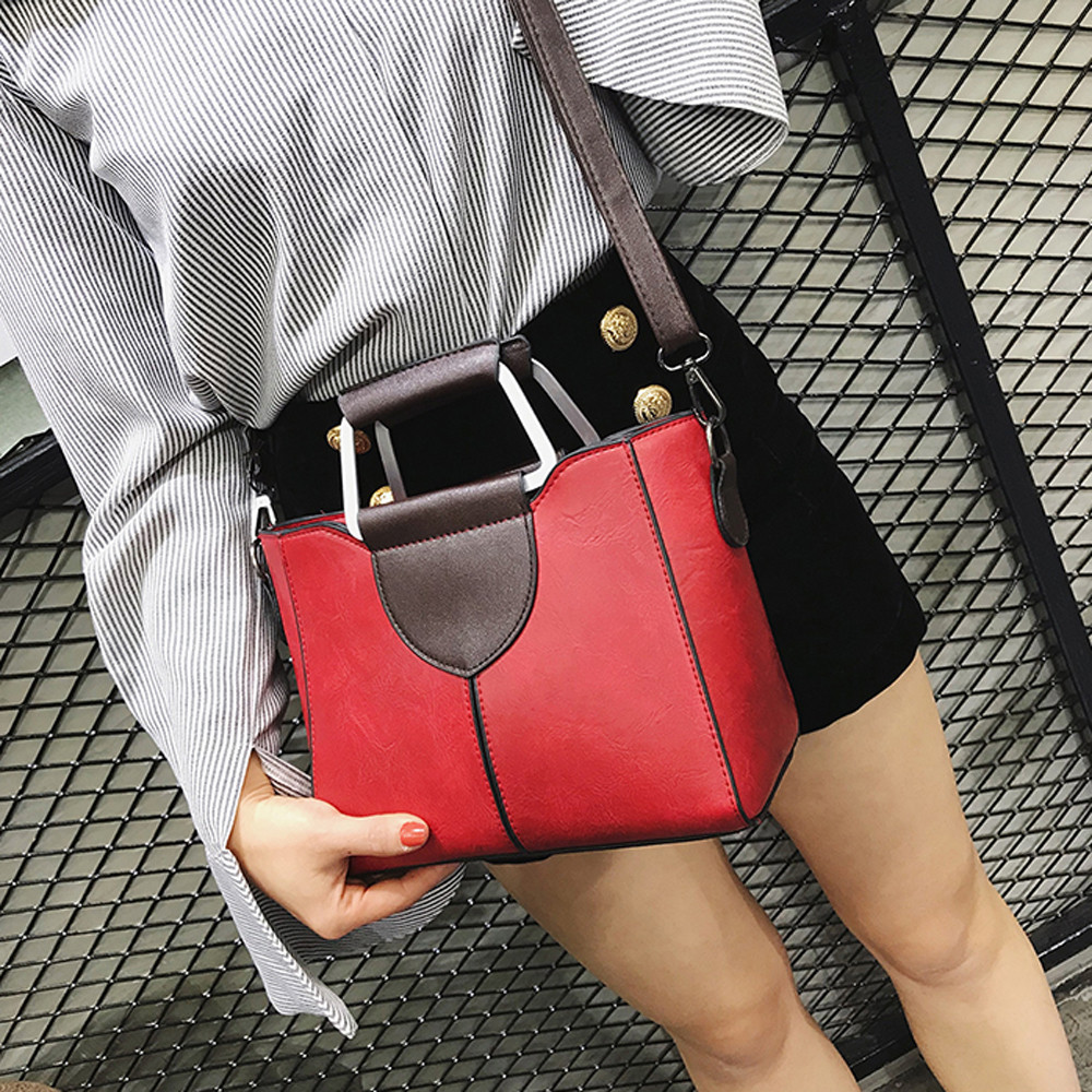 Women's Fashion Solid Color Leather Shoulder Bags With Corssbody Bag Handbag Ladies Outdoor Multifunction Messenger Bag Handbags
