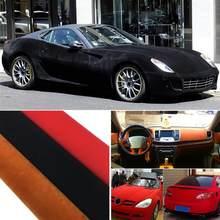 30*152CM araba sargı çıkartma kendinden yapışkanlı Film Premium kalite kadife süet kumaş malzemesi otomatik iç/dış araba şekillendirici