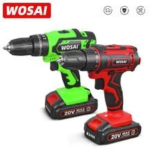 WOSAI – perceuse sans fil 20V, tournevis, Mini pilote d'alimentation sans fil, batterie DC Lithium-Ion 25 + 1 réglages, bricolage à domicile sans clé