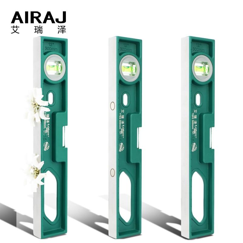 AIRAJ Магнитный уровень, 300 мм Высокоточный балансировочный чугунный рычаг с пузырьковым уровнем, высокоподшипниковая линейка