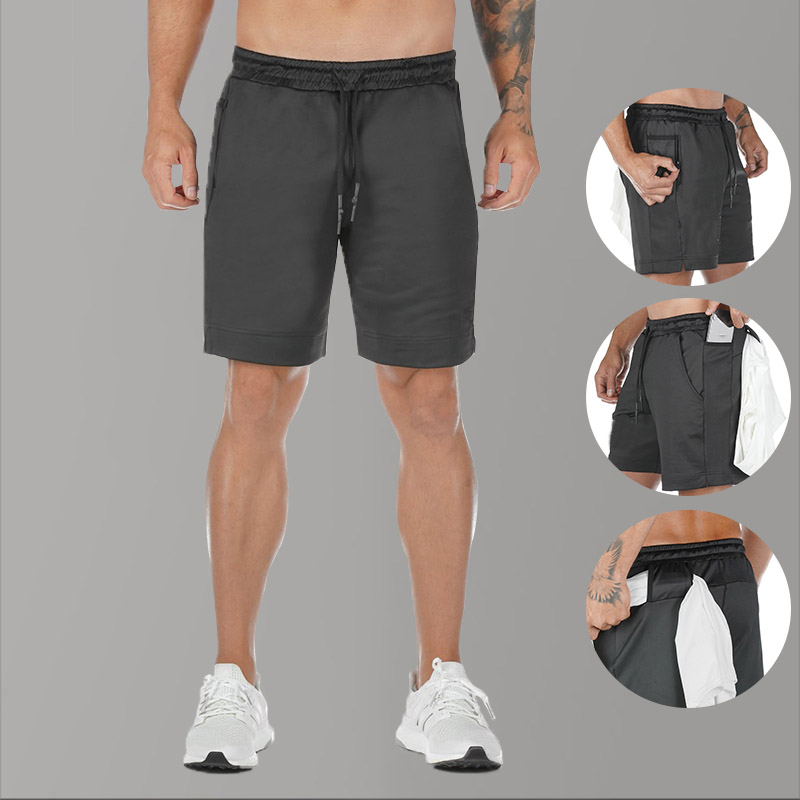 2020 Summer Gym Fitness Mens Shorts Casual Ployster Black Biker Short Homme Sport Workout Shorts For Male Beach White Joggers