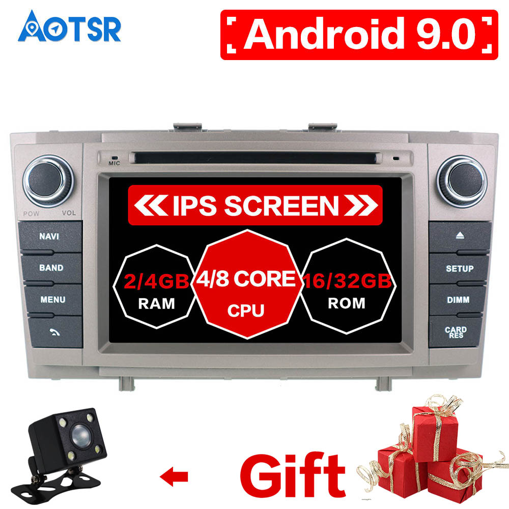 Android 9.0 4+64GB Car DVD Player Autoradio for Toyota Avensis T27 2009-2015 GPS Map Navigation Stereo Auto head unit multimedia