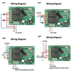 Image 2 - Rf Afstandsbediening 433Mhz Universele Draadloze Diy Schakelaar Dc 5V ~ 30V 2CH Rf Relais Ontvanger board En Lange Afstand Zender
